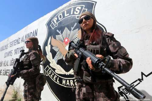Image of Turkish police women [Turkish female special forces police/Wikipedia]