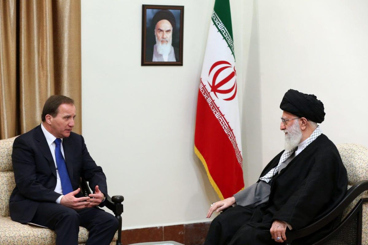 Supreme Leader of Iran Ayatollah Ali Khamenei (R) and Swedish Prime Minister Stefan Lofven (L) in Tehran, Iran on February 11, 2017 [Supreme Leadership of Iran Press Office / Anadolu Agency]