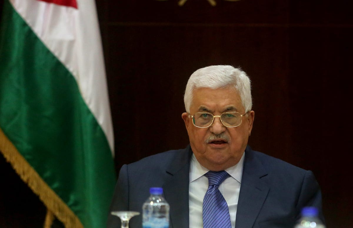 Image of Palestinian President Mahmoud Abbas in Ramallah, West Bank on February 13, 2017 [Issam Rimawi /Anadolu Agency]