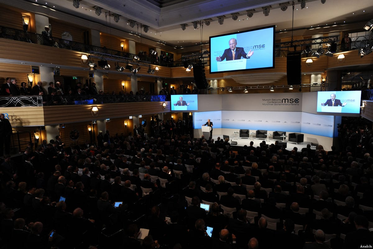 The chairman of the Munich Security Conference (MSC), Wolfgang Ischinger, speaks during the 53rd Munich Security Conference (MSC) at Hotel Bayerischer Hof in Munich, Germany, on February 17, 2017 [Andreas Gebert / Anadolu Agency]