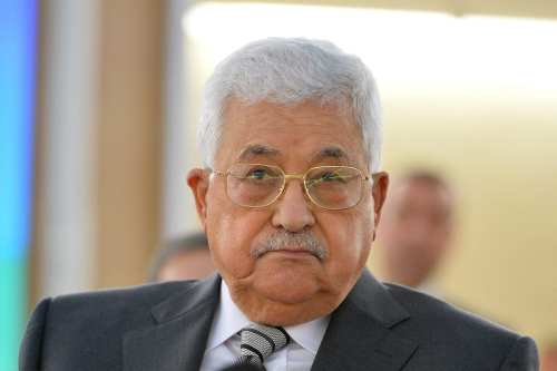 Palestinian President Mahmoud Abbas seen at the 34th session of the UN Human Rights Council on February 27, 2017 [Mustafa Yalçın / Anadolu Agency]