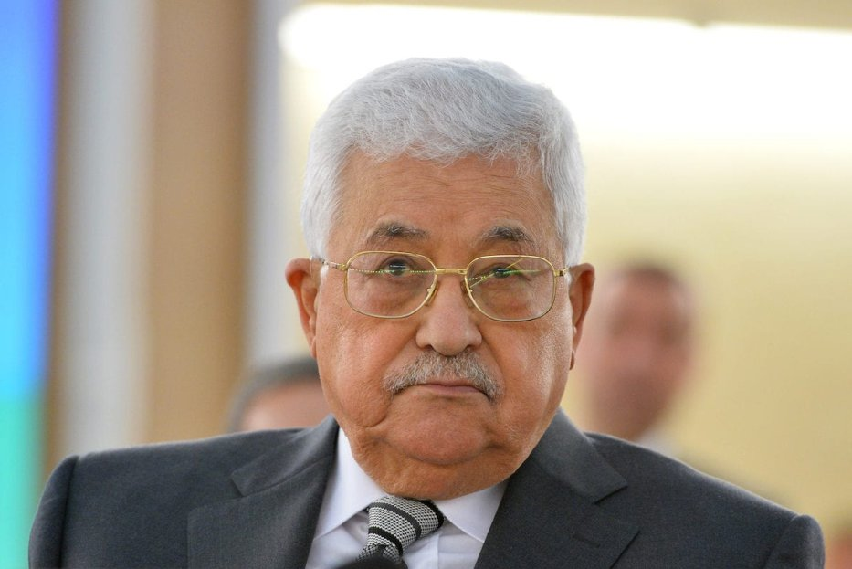 Palestinian President Mahmoud Abbas attends the 34th session of the United Nations Human Rights Council at the United Nations office in Geneva, Switzerland on February 27, 2017 [Mustafa Yalçın / Anadolu Agency]