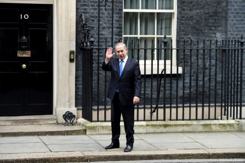 Israeli Prime Minister Benjamin Netanyahu during his visit to the UK on 6 February 2017 [Kate Green /Anadolu Agency]