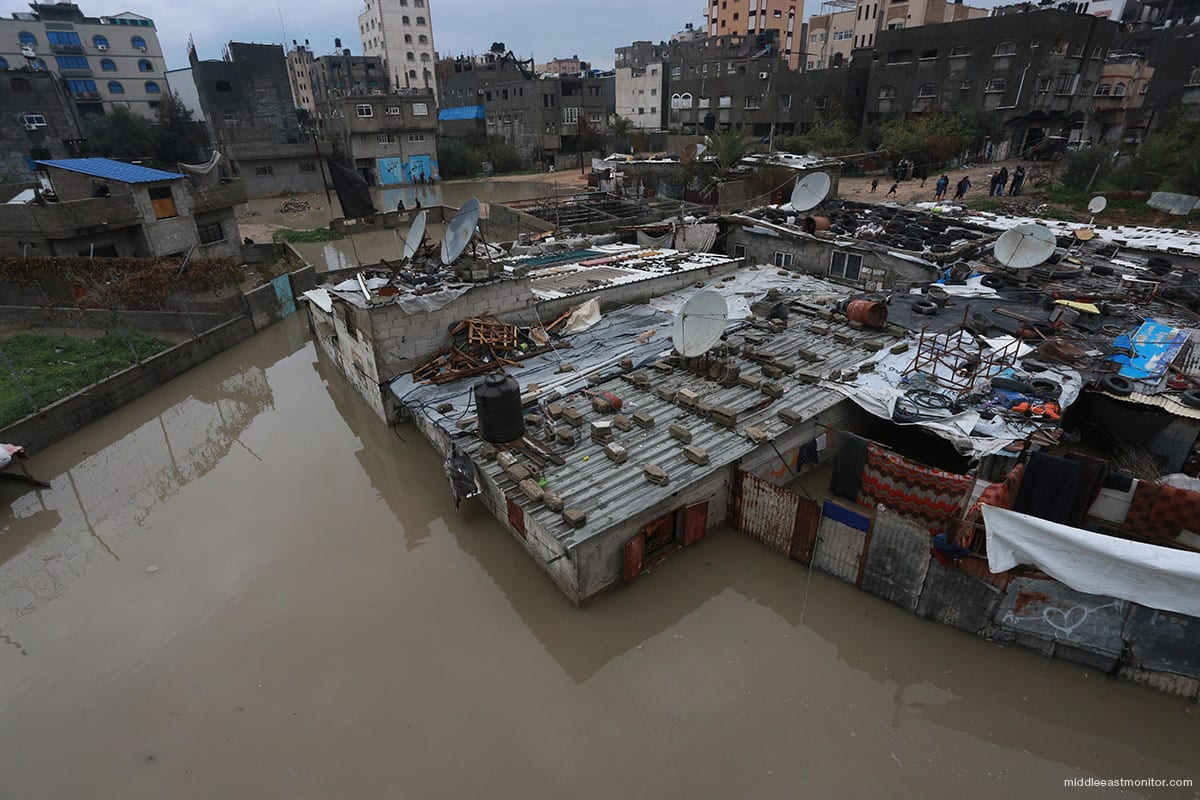 Heavy rains caused severe flooding across the Gaza Strip, leading to an evacuation of residents from low-lying districts on 16th February 2017 [middleeastmonitor]