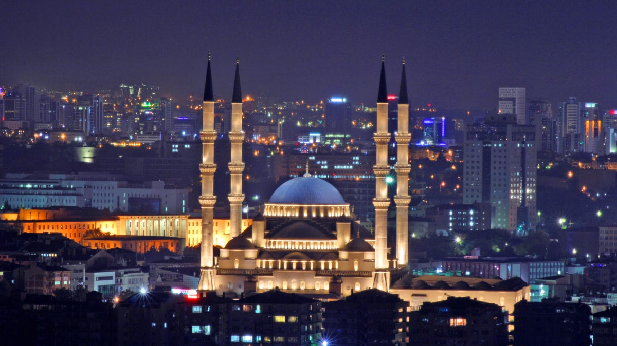 Kocatepe Camii Mosque in Ankara, Turkey. [Ugurguler06/Wikimedia]