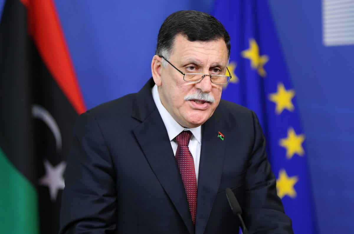 Chairman of the Presidential Council of Libya Fayez Al-Sarraj [Dursun Aydemir/Anadolu Agency]