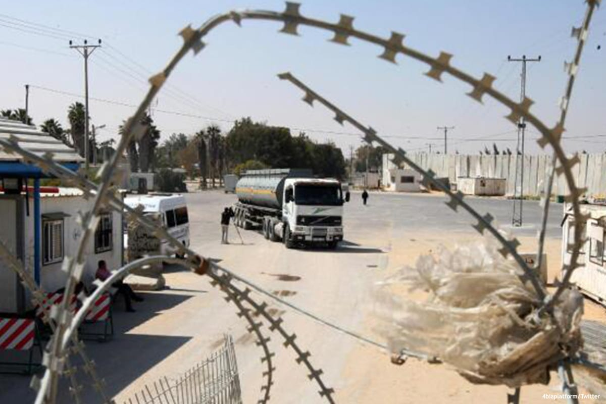 Image of the Kerem Shalom crossing between Israel and the Gaza Strip [4biaplatform/Twitter]