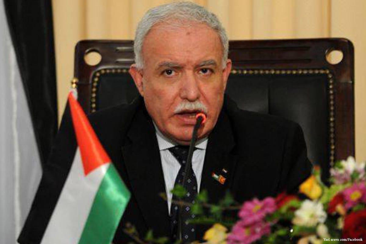 The Palestinian Authority (PA) Foreign Minister Riyadh Al-Maliki [Yael arava com/Facebook]