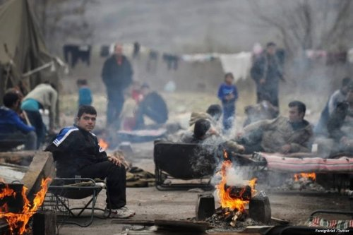 Image of refugees in Bulgaria [ForeignBrief /Twitter]
