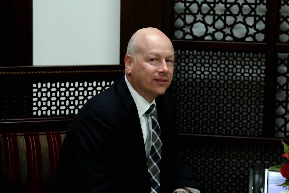 US President Donald Trump's Assistant and Special Representative for International Negotiations, Jason Greenblatt (C) in Ramallah, West Bank [Issam Rimawi/Anadolu Agency]