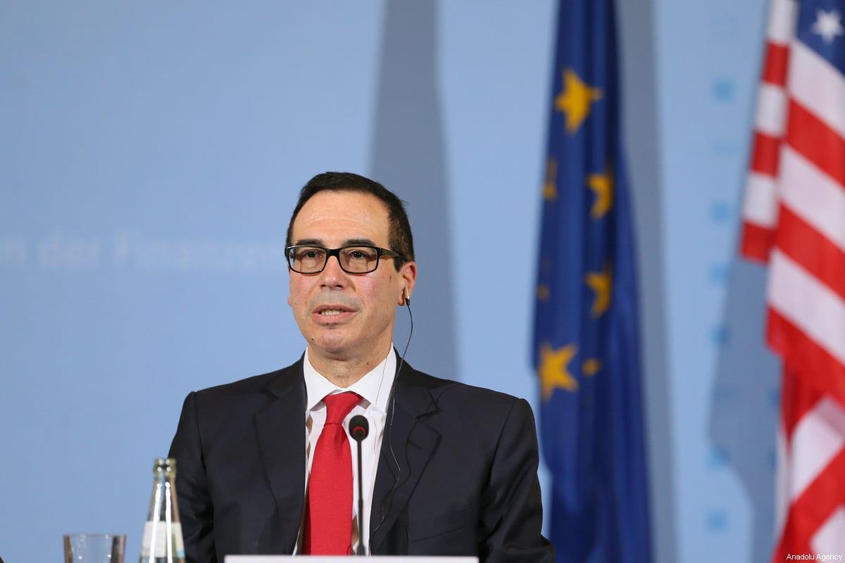 US Secretary of the Treasury, Steven Mnuchin speaks during a press conference in Berlin, Germany on 16 March, 2017 [Cüneyt Karadağ/Anadolu Agency]