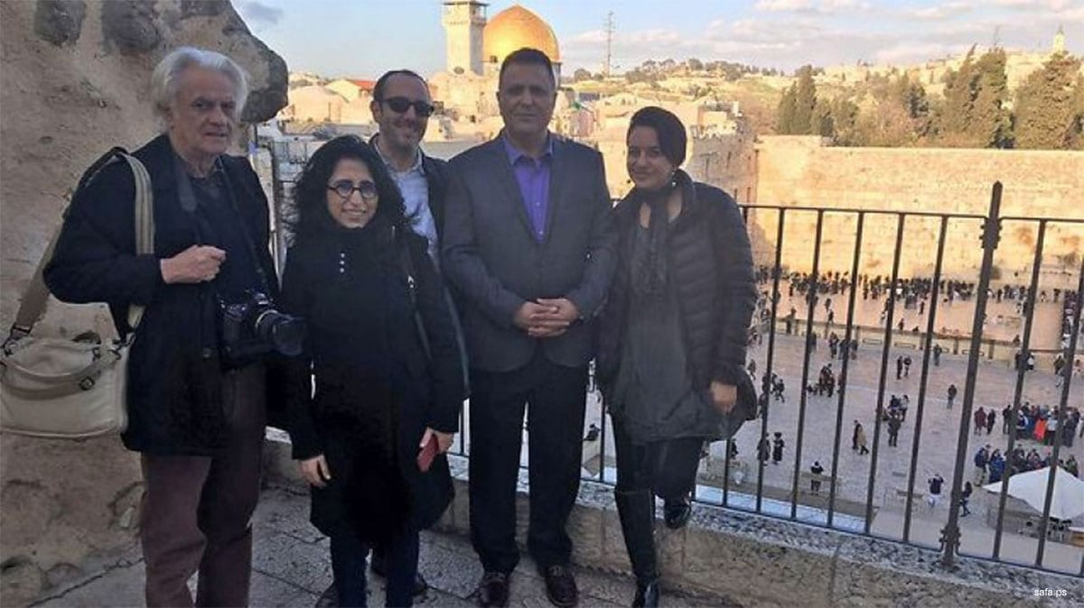 Image from the Twitter account of Ofir Gendelmen, claiming that journalists from Journalists from Morocco, Algeria and Tunisia are visiting Israel.