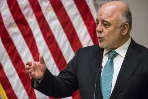 Iraqi Prime Minister Haider al-Abadi speaks at the United States Institute of Peace on ties with the US and the war with Daesh in Washington, USA on March 20, 2017. ( Samuel Corum/ Anadolu Agency )