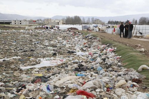 A garbage dump in Beirut in Lebanon on 21 March 2017 [Ratib Al Safadi/Anadolu Agency ]