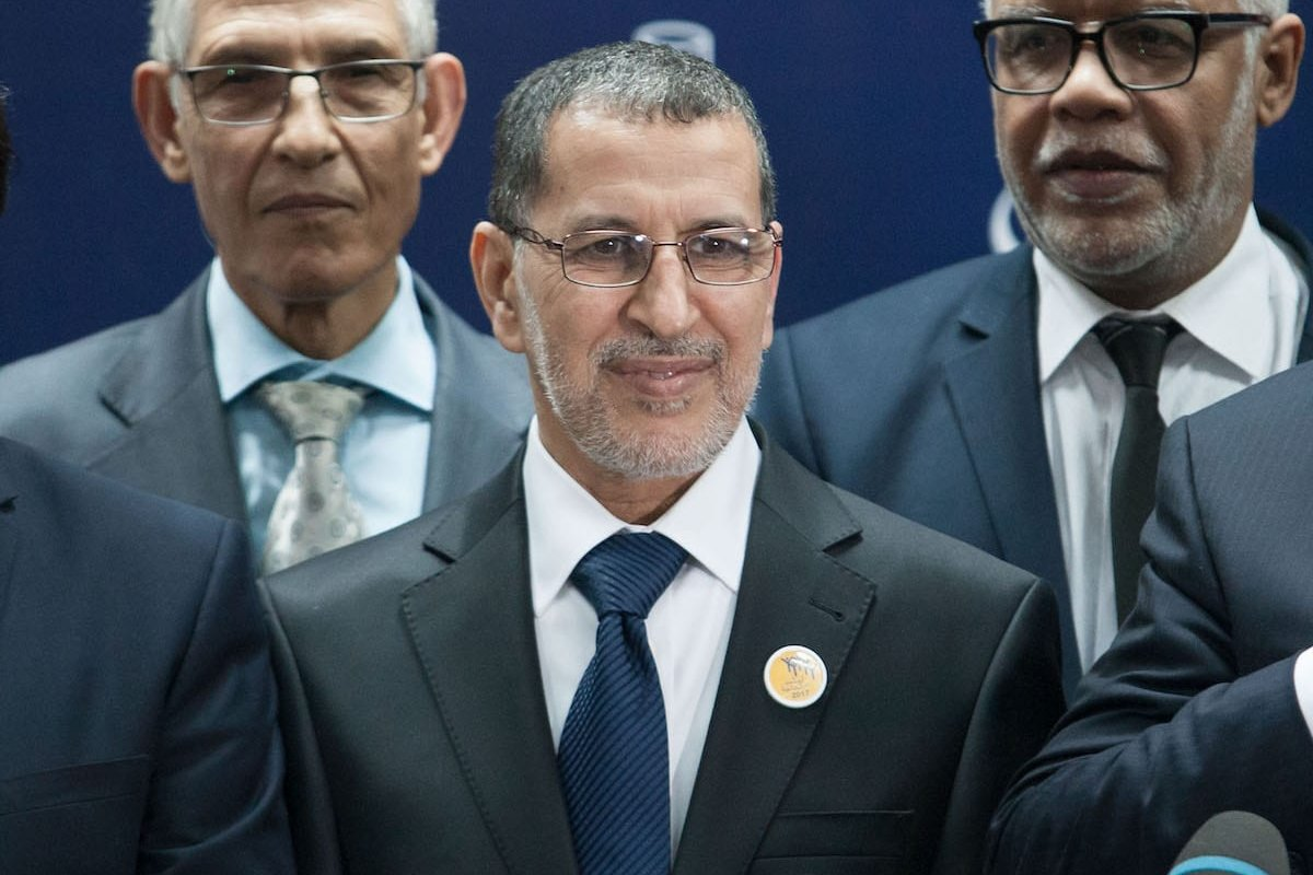 Head of the National Council of Justice and Development Party (JDP), Saadeddine Othmani in Rabat, Morocco on 21 March, 2017 [Jalal Morchidi/Anadolu Agency]