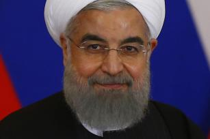 Iranian President Hassan Rouhani in Moscow, Russia on March 28, 2017. ( Sefa Karacan - Anadolu Agency )
