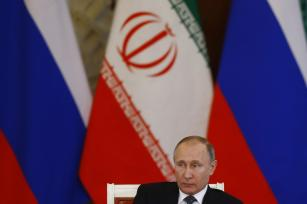 Russian President Vladimir Putin and Iranian President Hassan Rouhani (not seen) hold a joint press conference after their meeting in Moscow, Russia on March 28, 2017. ( Sefa Karacan - Anadolu Agency )