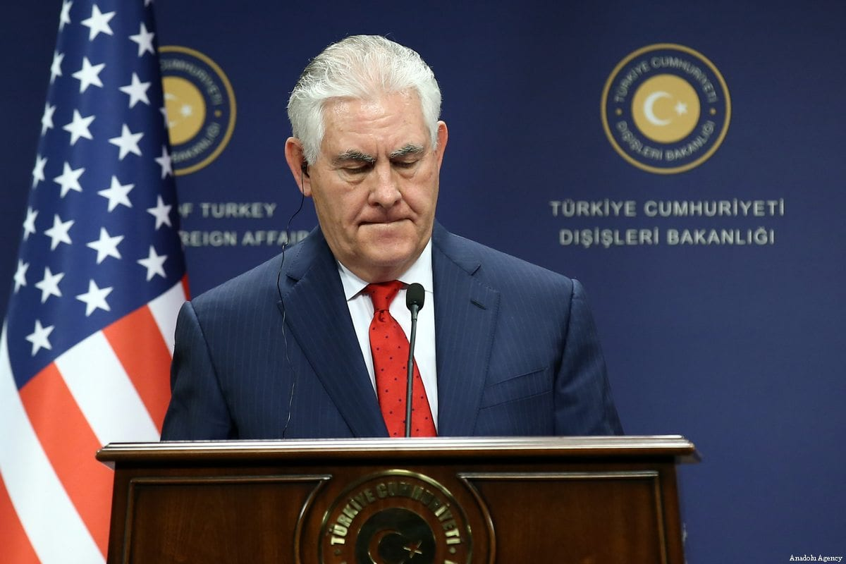 US Secretary of State Rex Tillerson in Ankara, Turkey on March 30, 2017. ( Raşit Aydoğan - Anadolu Agency )