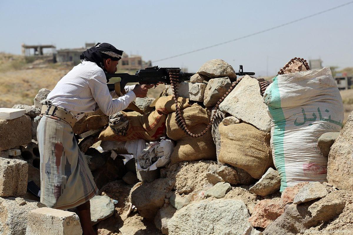 Houthi militant in Taiz, Yemen on 28 February, 2017 [Abdulnasser Alseddik/Anadolu]