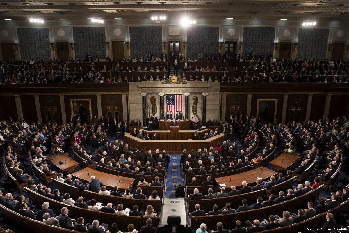 Image of US Congress in session on 28 February 2017 in Washington, US [Samuel Corum/Anadolu Agency]