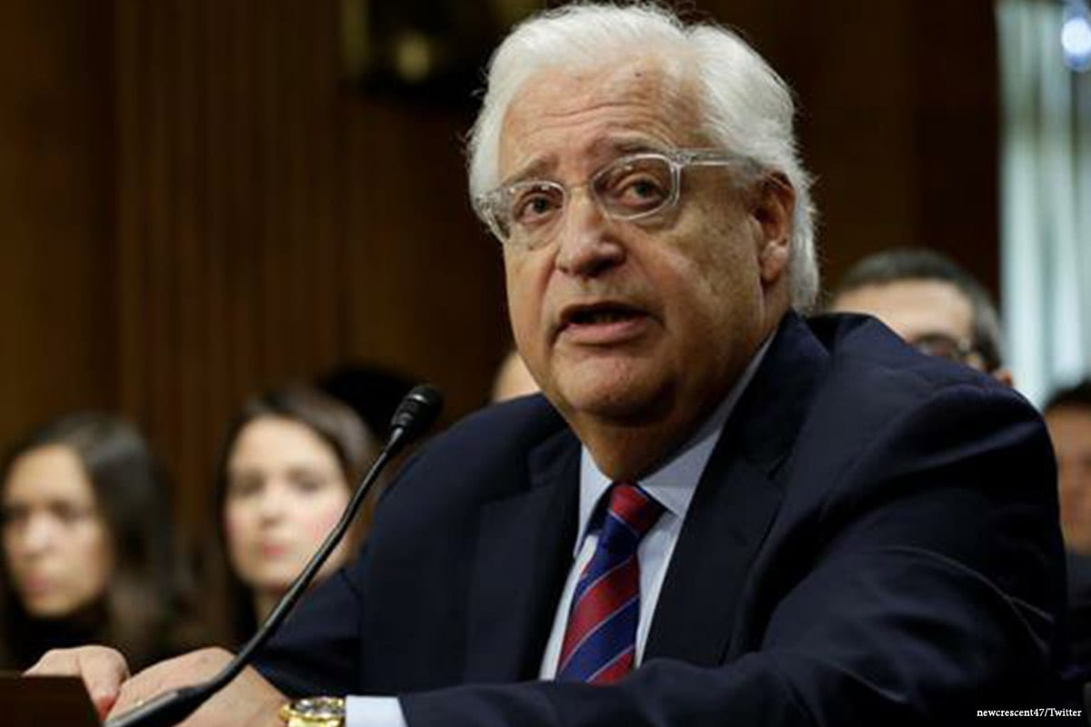 Image of US ambassador to Israel, David Friedman [newcrescent47/Twitter]