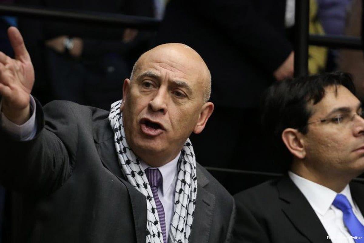 Former Arab Israeli MK Basel Ghattas [FedPalestina /Twitter]