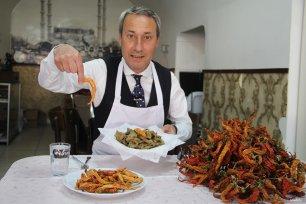 EDIRNE, TURKEY- The city's local favourite cuisine ? Fried liver!