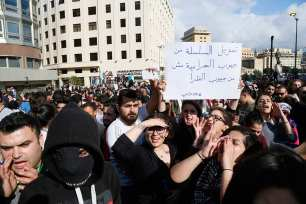 Protest against tax and corruption in Lebanon on 19 March 2017 [Ratib Al Safadi/Anadolu]