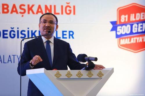Image of Turkey's Minister of Justice Bekir Bozdag delivers a speech on 3 March 2017 [Ayhan İşcen - Anadolu Agency]
