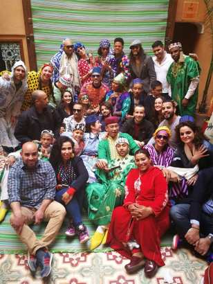 Image of actor Will Smith taking a group photo in Morocco [Facebook]