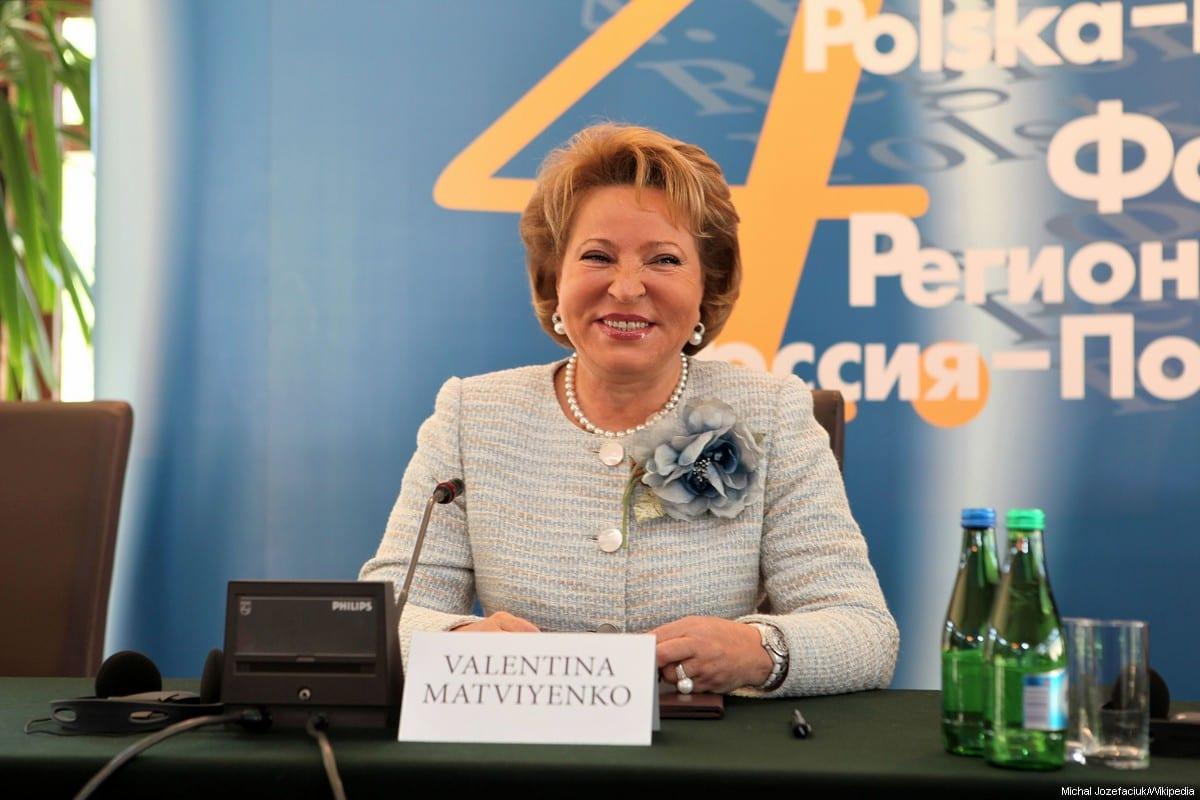 Chairman of the Russian Federation Council, Valentina Matviyenko [Michał Józefaciuk/Wikipedia]