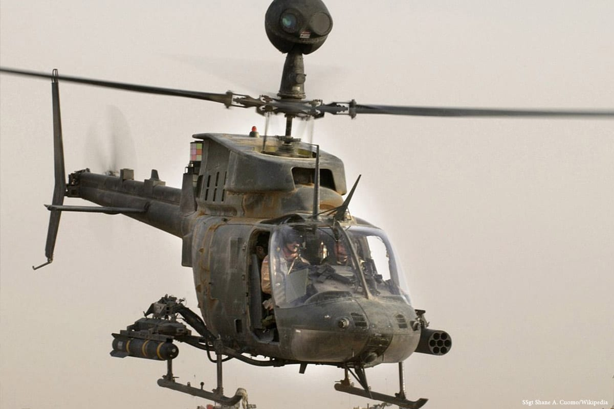 Image of an Iraqi helicopter [SSgt Shane A. Cuomo/Wikipedia]