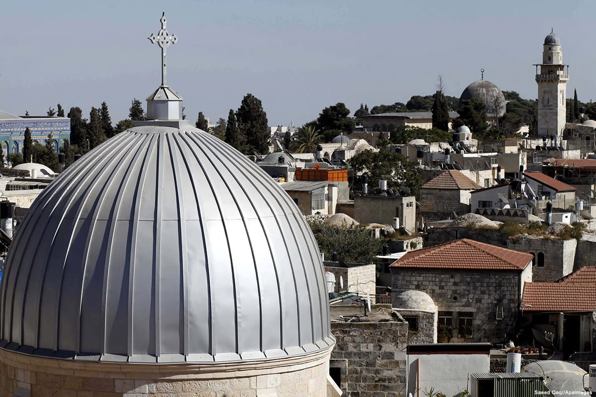 Image of a Russian Orthodox Church in Jerusalem's old city on 16 September 2013 [Saeed Qaq//Apaimages]
