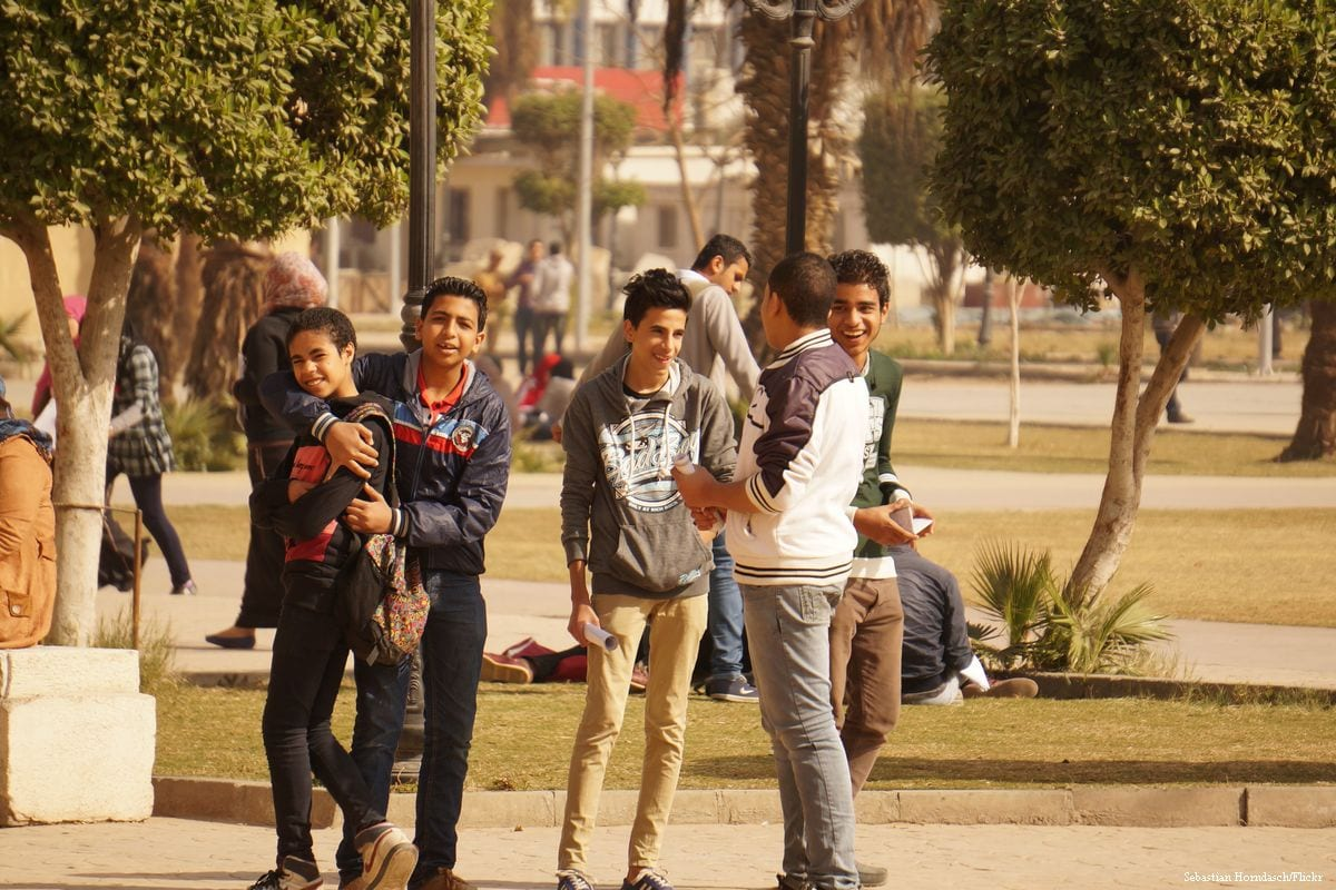 School boys in Cairo, Egypt on 27 January 2014 [Sebastian Horndasch/Flickr]