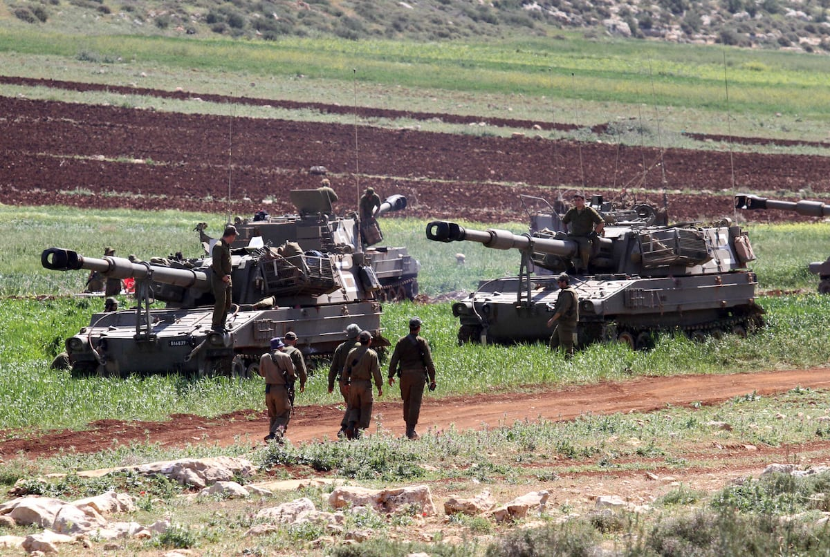 Israeli soldiers conduct a military drill in Akraba villiage of Nablus West Bank