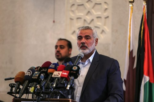Image of Ismail Haniyeh on April 10, 2017 [Ali Jadallah/Anadolu Agency]