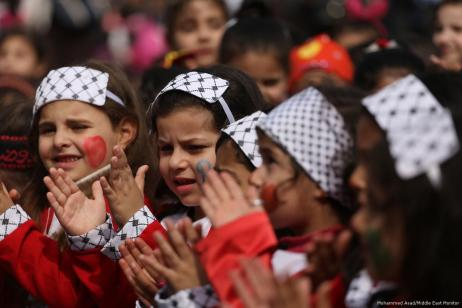 Image of Palestinian Children's Day celebrations [Mohammed Asad/Middle East Monitor]