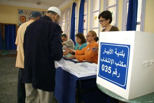 Image of a voting booth in Algeria [Flickr]
