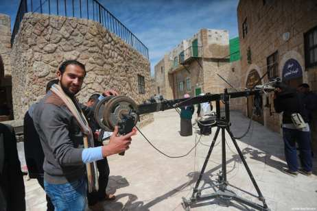 Image from a set designed by Al-Aqsa satellite television mimicking Jerusalem, in Gaza [Mohammed Asad / Middle East Monitor]