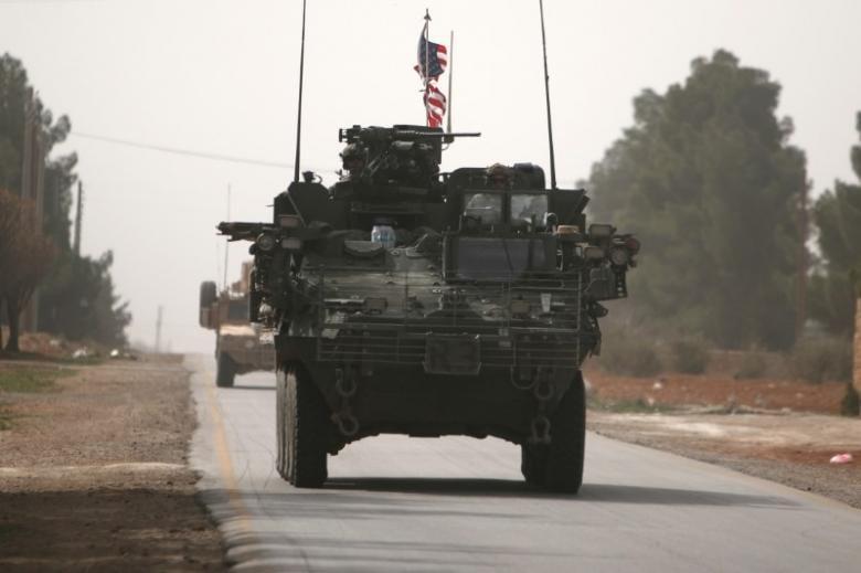 American army vehicles in Aleppo, Syria March 9, 2017 [REUTERS/Rodi Sai