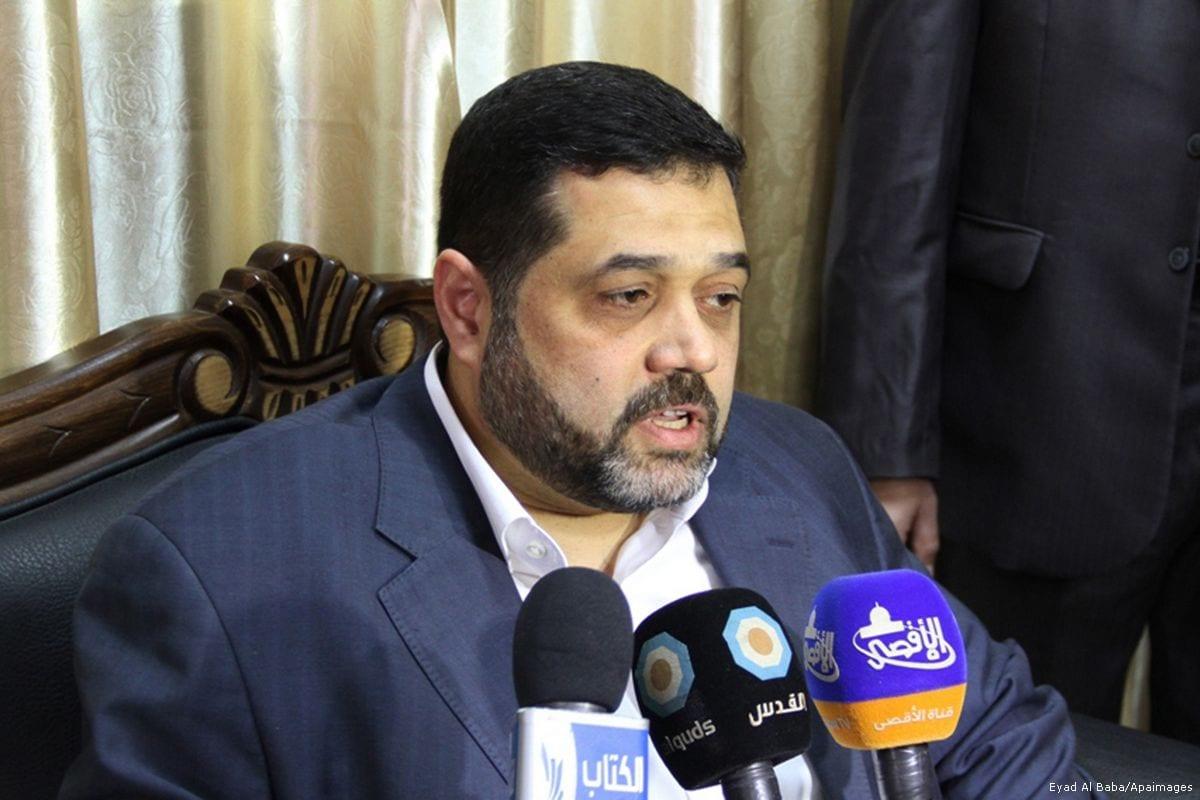 Image of Osama Hamdan in Gaza on January 20, 2013 [Eyad Al Baba/Apaimages]