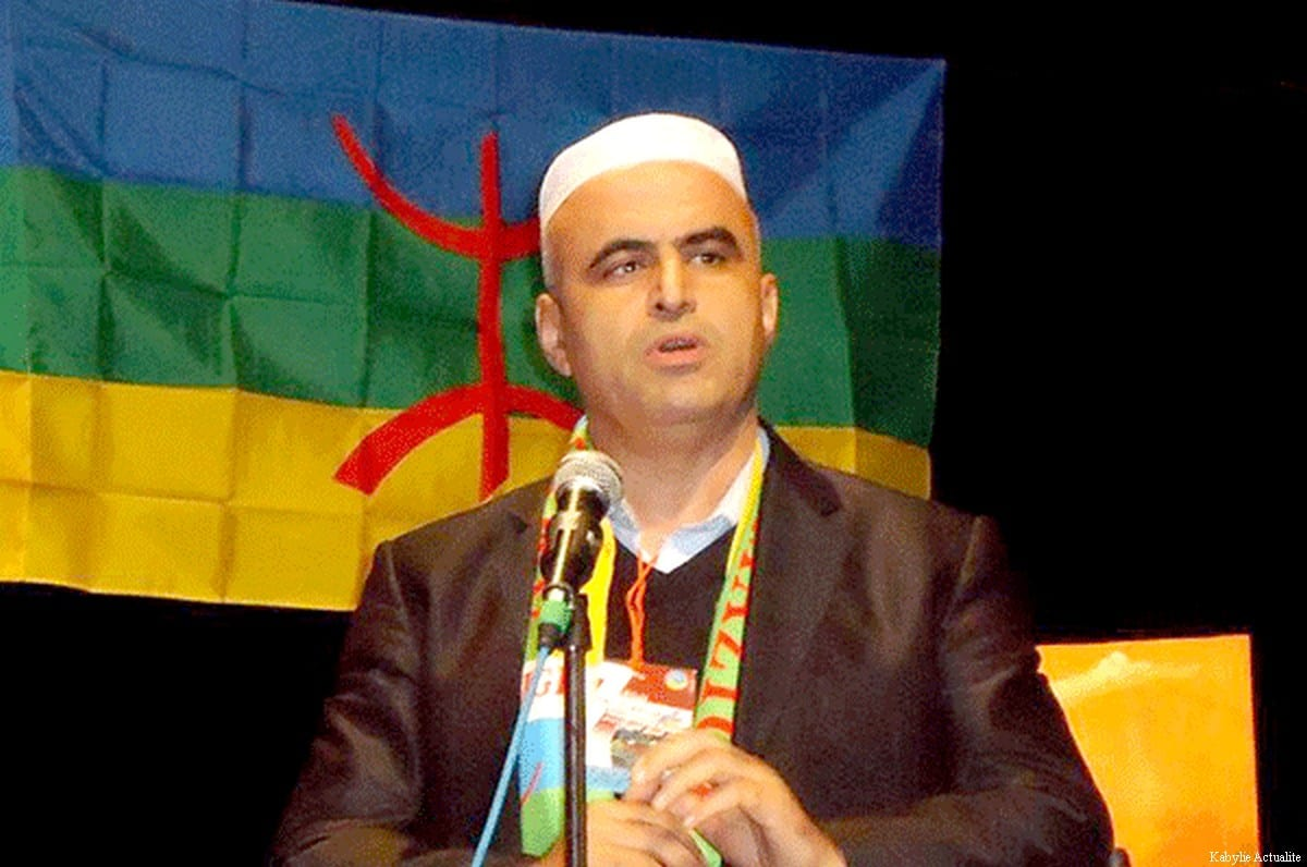 Kamaleddine Fekhar, activist for the rights of the Amazigh in Algeria, in May 2017 [Kabylie Actualites]