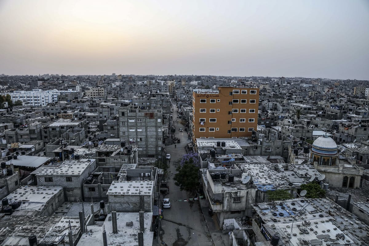 Al-Shati Refugee Camp where displaced Palestinians took shelter after their exile from other parts of Palestine during the Nakba in 1948, is seen in Gaza City, Gaza on May 15, 2017 [Ali Jadallah / Anadolu Agency]
