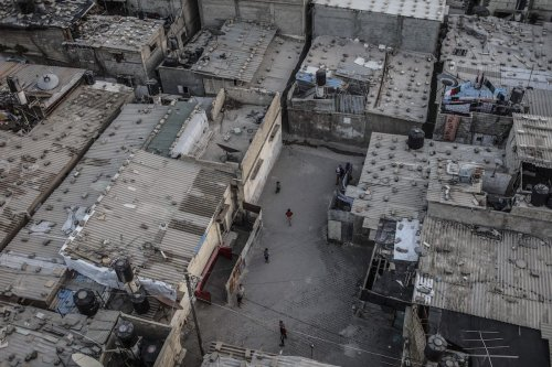 Image of Al-Shati Refugee Camp, the place where displaced Palestinians took shelter after their exile from Palestine during the Nakba in 1948, is seen in Gaza City, Gaza on May 15, 2017 [Ali Jadallah/Anadolu Agency]