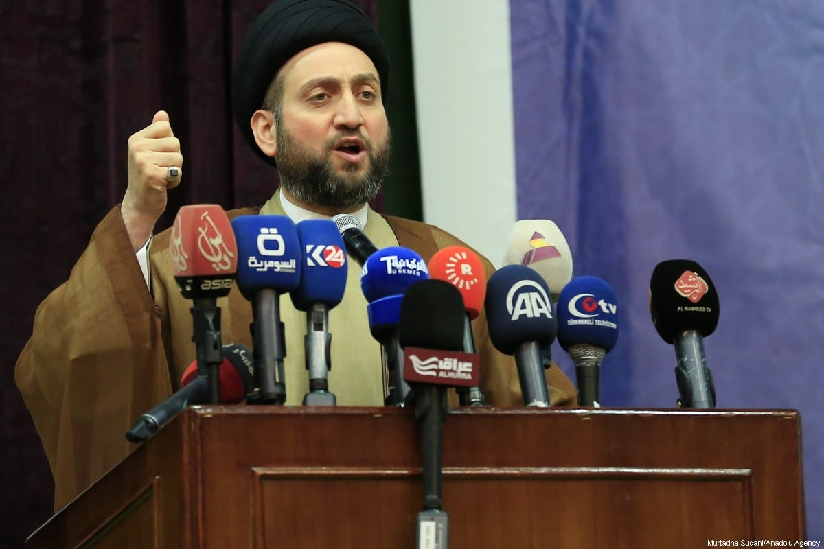 Leader of the National Wisdom Movement in Iraq, a Shiite party, Ammar Al-Hakim in Baghdad, Iraq [Murtadha Sudani/Anadolu Agency]