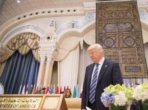 US President Donald Trump attends the Arabic Islamic American Summit in Riyadh, Saudi Arabia on 21 May, 2017 [Bandar Algaloud/Anadolu Agency]