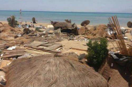 Kiteloop Camp in Ras Sudr, Egypt, destroyed completely by security forces [Twitter]