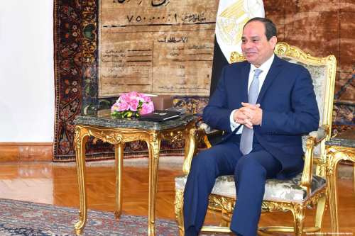 Image of Egyptian President Abdel Fattah Al-Sisi in Cairo, Egypt on April 20, 2017 [Egyptian Presidency / Handout/Anadolu Agency ]