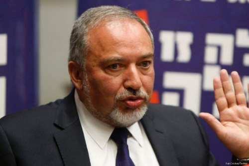 Image of Israeli Defence Minster Avigdor Lieberman on 12 April 2017 [PakCricket/Twitter]