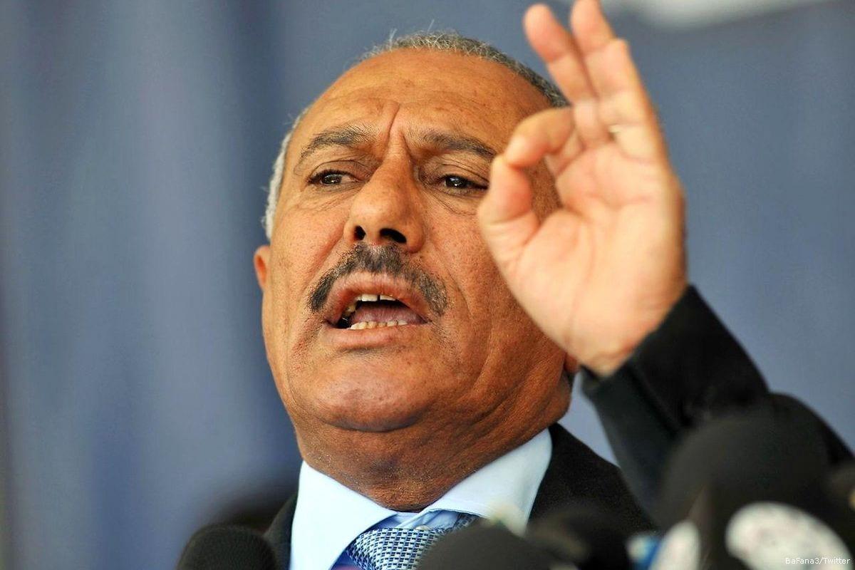 Image of Yemen's ousted President Ali Abdullah Saleh [BaFana3/Twitter]